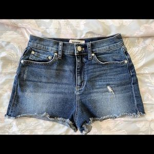 PINK Victoria's Secret Cut-off Denim Shorts Size 2